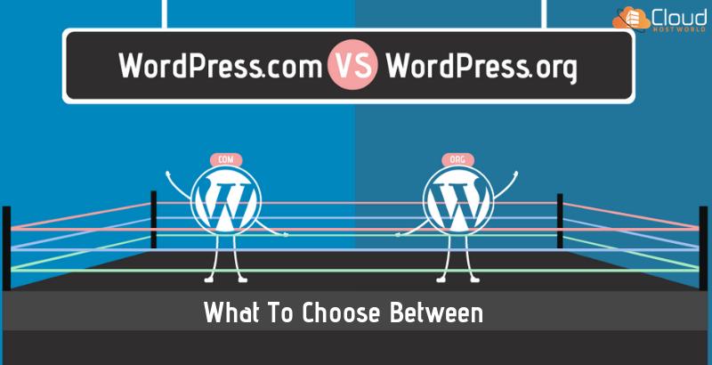 What to choose between WordPress.com or WordPress.org