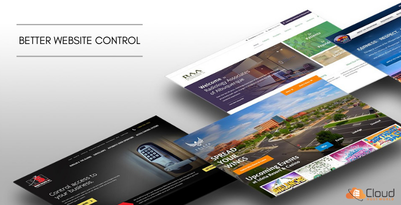 Website control - dedicated server hosting
